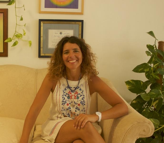 Carolina Romero González en su centro.